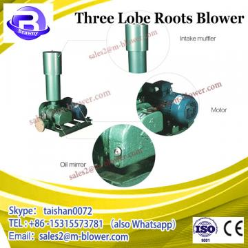 High quality rotary three lobes roots industrial blower air conduit blower for fish pond