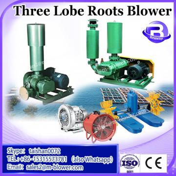 Dust removal system using three lobes roots blower