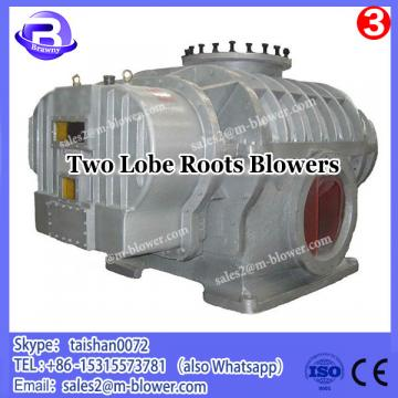 Textile plant using positive displacement two lobes roots blower